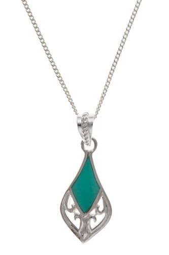 Sterling Silver Filigree Turquoise Necklace