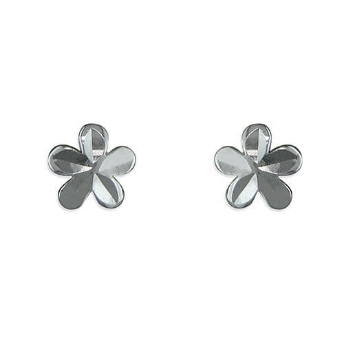 Sterling Silver Flower Stud Earrings H2193