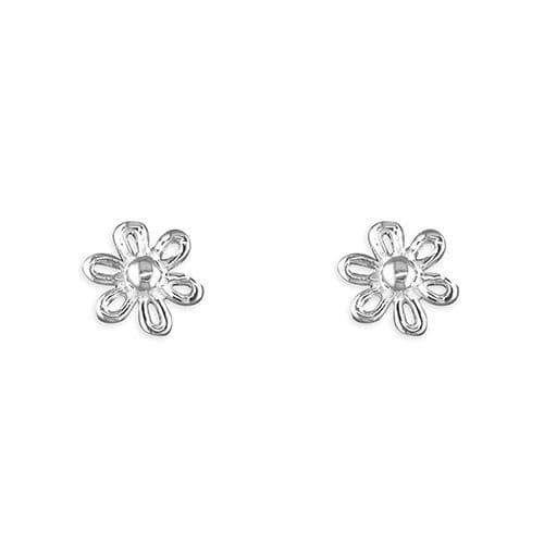 Sterling Silver Flower Stud Earrings R9450