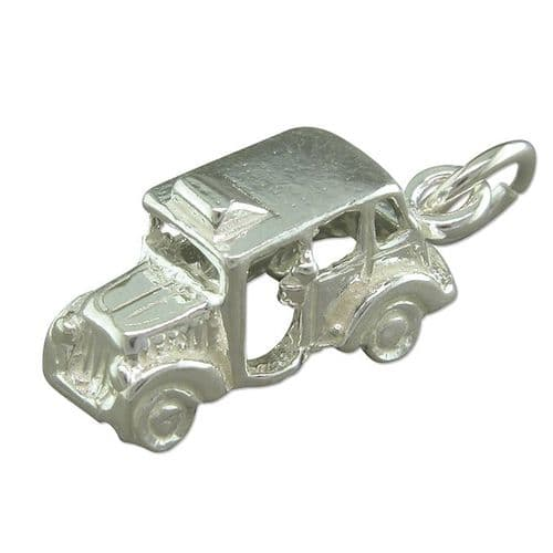 Sterling Silver London Taxi Solid Charm