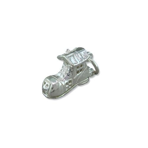 Sterling Silver Old Mother Hubbard Boot Solid Charm Small