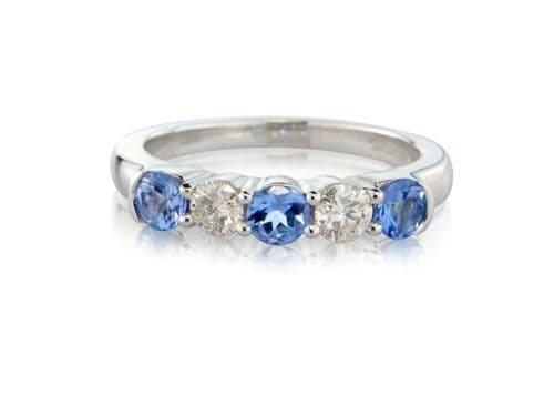 Tanzanite And Diamond Eternity Ring
