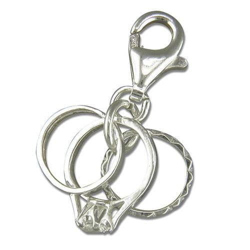 Three Rings Charm Sterling Silver