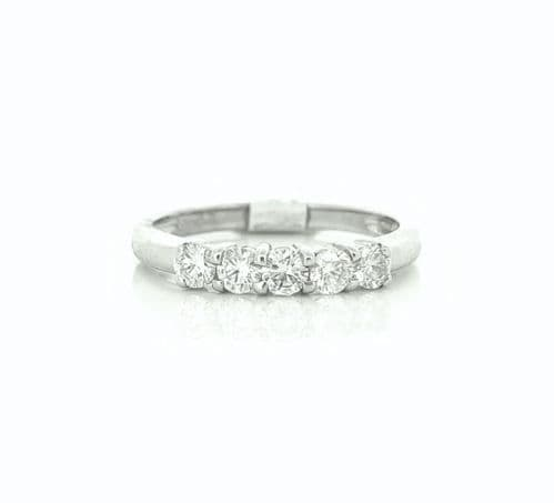 White Gold Diamond Eternity Ring In A Claw Setting  40 Points