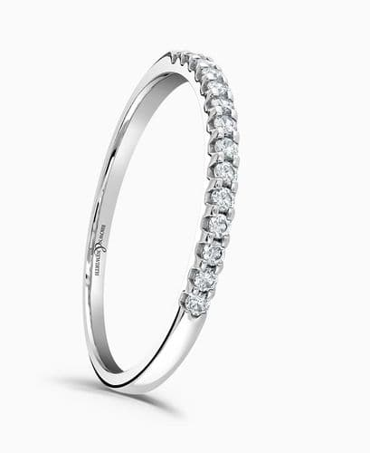 White Gold Eternity Ring Diamond Claw Setting 15 Points