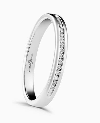 White Gold Round Cut Eternity Ring Diamond Channel Set