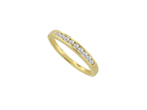 Yellow Gold Diamond Eternity Ring Channel Set