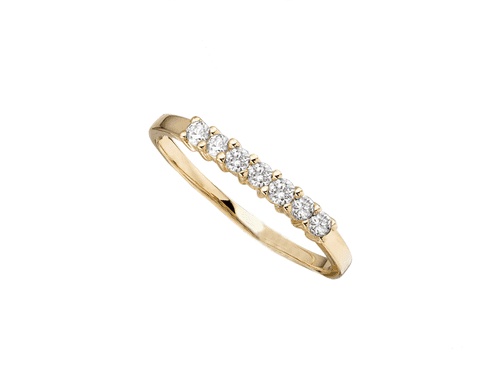 Yellow Gold Diamond Eternity Ring In A Claw Setting