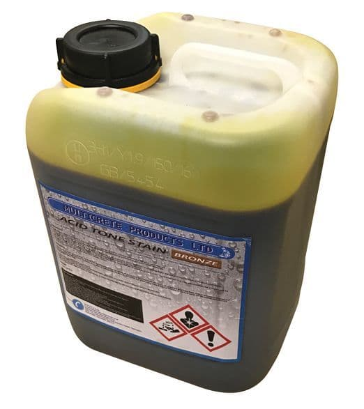 Acid Tone Stain - Bronze (5L) For Imprinted Concrete