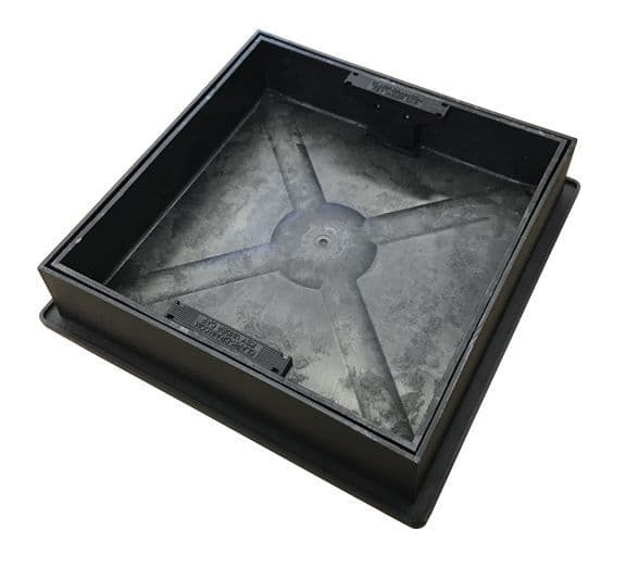 Clark Drain Block Paving Manhole Cover & Frame 220-300mm Dia x 80mm CD300SR