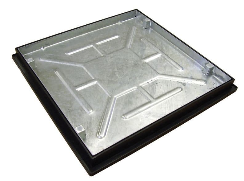 Clark Drain Recessed Manhole Cover with frame - 600 x 600 x 46mm Sealed and Locked T16G3