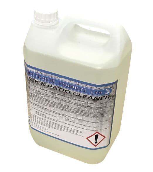 Multicrete Hydrochloric Acid/Brick and Patio Cleaner - 5L (10% Strength)