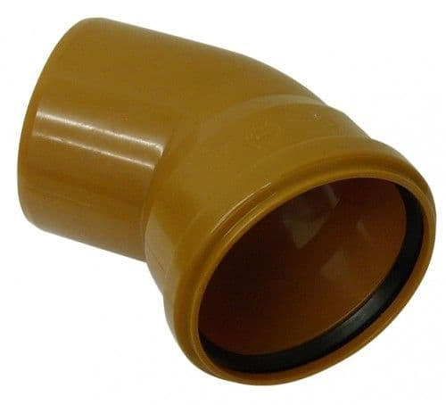 Underground Drainage Single Socket 45 Degree - 110mm