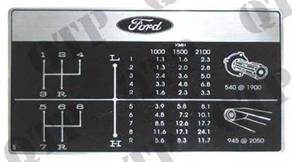 Decal Ford 2000 - 6600's gears