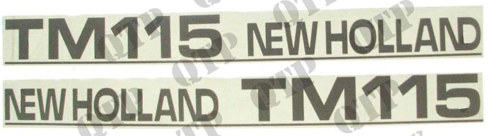 Decal New Holland TM115 - Set Old Type