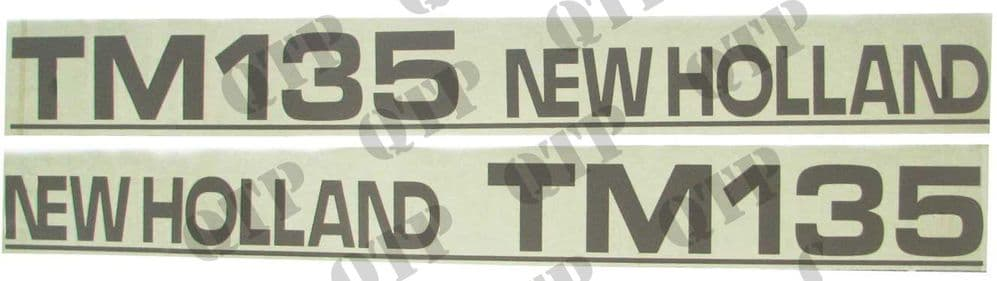 Decal New Holland TM135 - Set Old Type