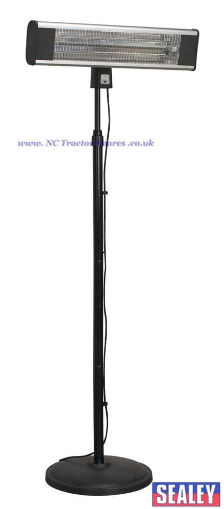 High Efficiency Carbon Fibre Infrared Patio Heater 1800W/230V with Telescopic Floor Stand