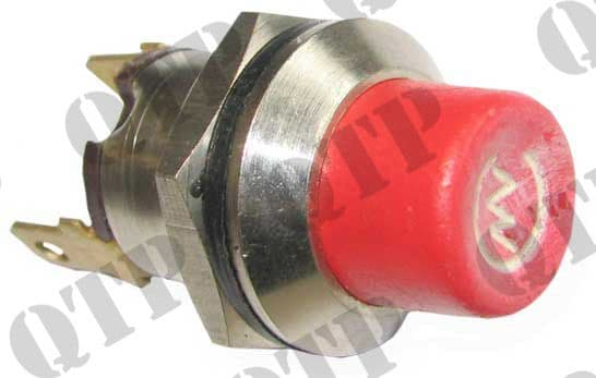 Switch Push Button Red M19 Steel