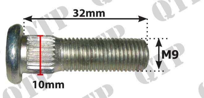"Wheel Stud 3/8"" for 51156 Nut"