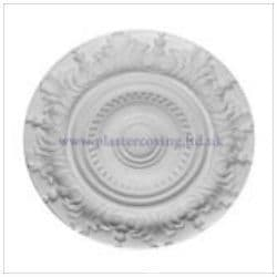 "21"" Acanthus and Bead Plaster Ceiling Rose 533mm"