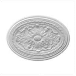 Acanthus and Bead Oval Plaster Ceiling Rose 600mm by 446mm