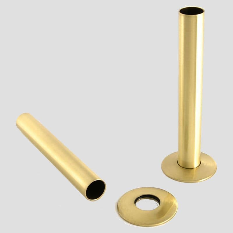 Cast Iron Radiator Pipe Shrouds 130mm - Brass