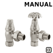 Crocus Satin Nickel Manual Radiator Valve