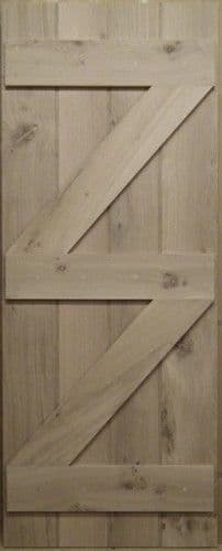 Oak Cottage Door - Ledge & Brace