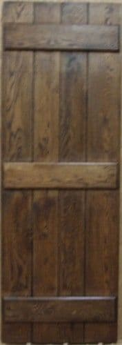 Oak Cottage Door - Ledged