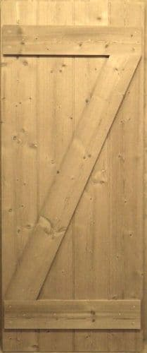 Pine Cottage Door - Single Brace