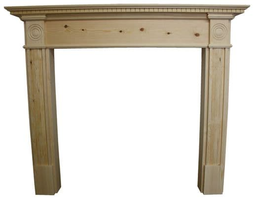 Roundel Wooden Fire Surround