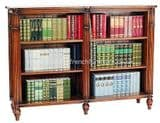 Wide Bookcase with Fluted Front
