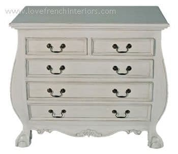 5 drawer Bombe Chest