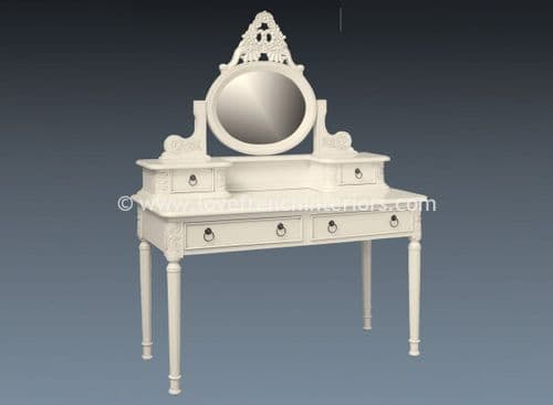 Alice Dressing Table and Mirror in Antique White