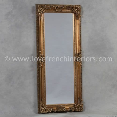 Antique Gold Tall Slim Mirror