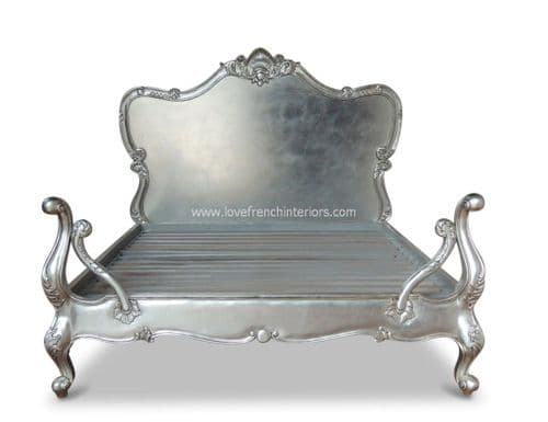 Antique Silver French Bed Kingsize