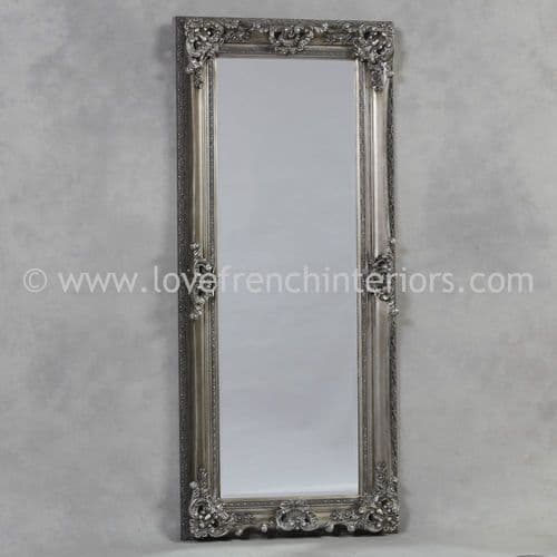 Antique Silver Tall Slim Mirror