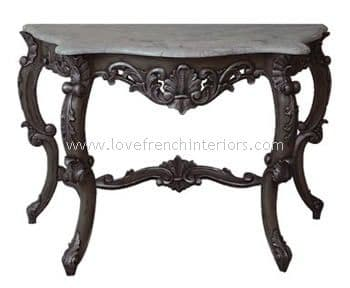 Antoinette Console Table with Marble Top