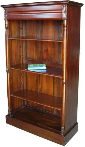 Bookcase with Four Shelves in Mahogany 2