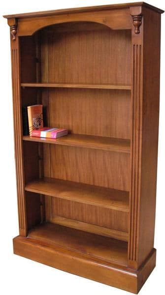 Bookcase with Four Shelves in Mahogany