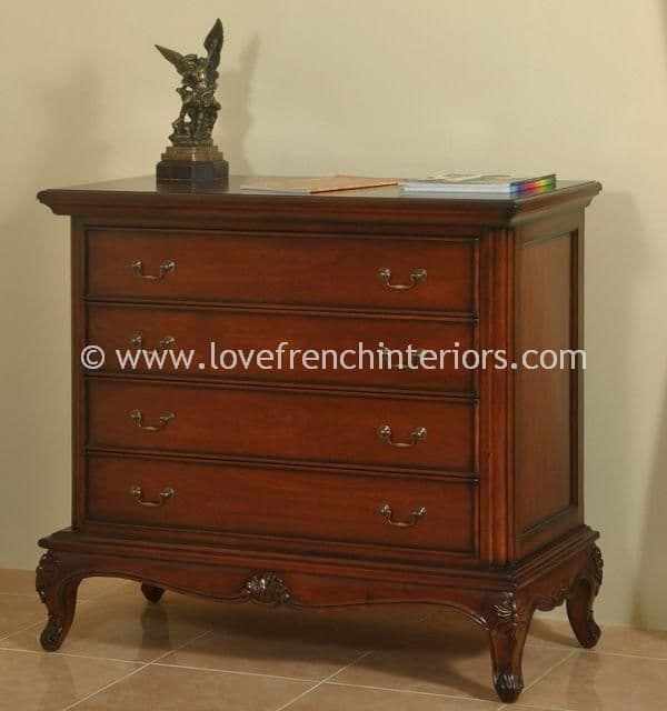 Candice Four Drawer Chest in Mahogany