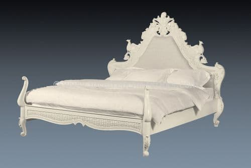 Candice Hawk Bed in Antique White