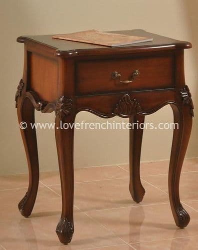 Candice One Drawer Mahogany Bedside