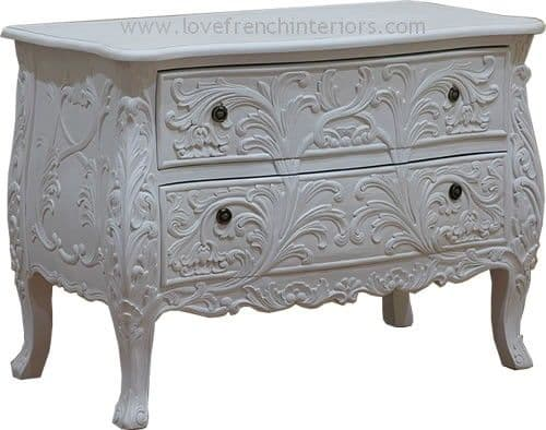 Carved 2 Drawer Chest