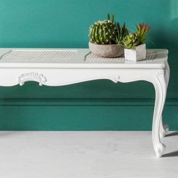 Chic Bench in Vanilla White
