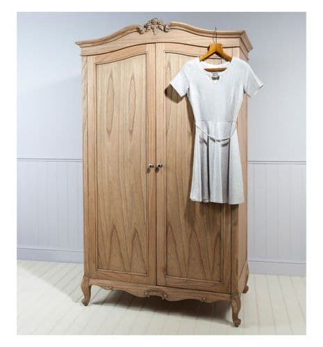 Chic Double Wardrobe Weathered Finish