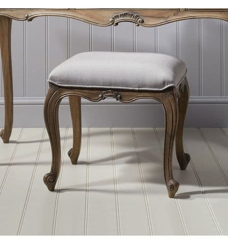 Chic Dressing Stool Weathered Finish
