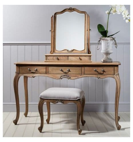 Chic Dressing Table Weathered Finish