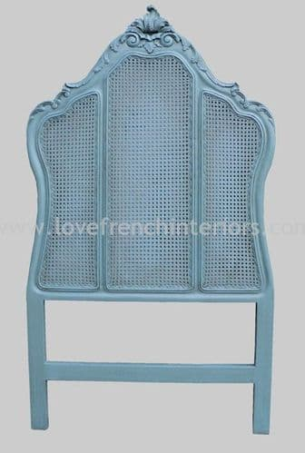 Classic French Rattan Headboard Single