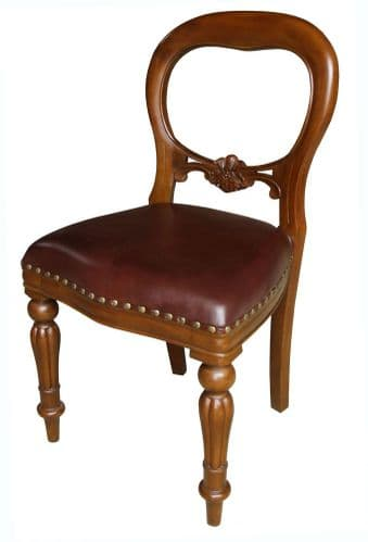 Dutch Chair with Leather Upholstery